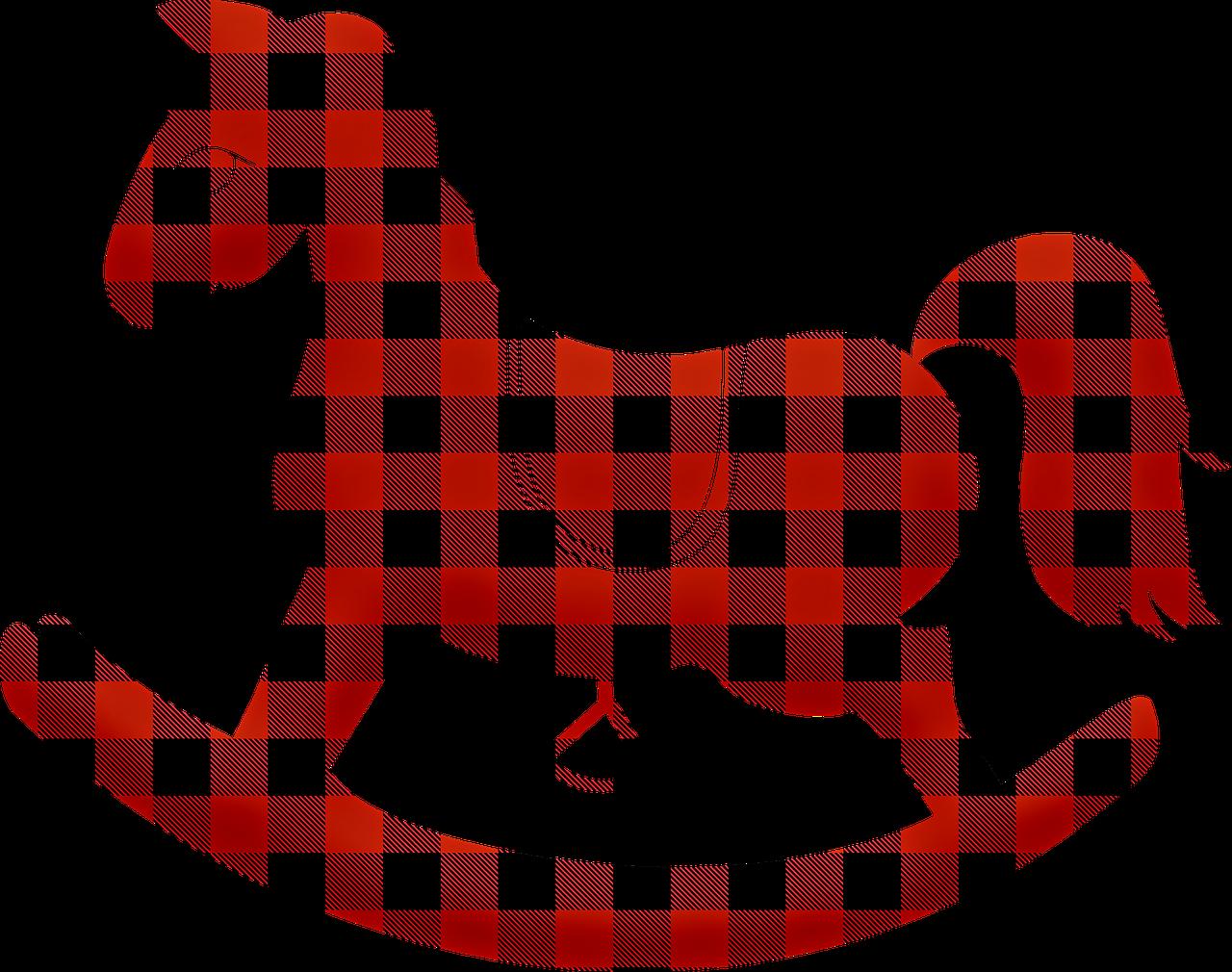 houpací koník látkový
