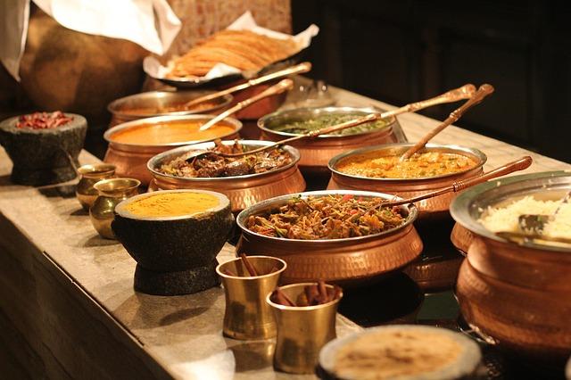 Ukázka indické kuchyně